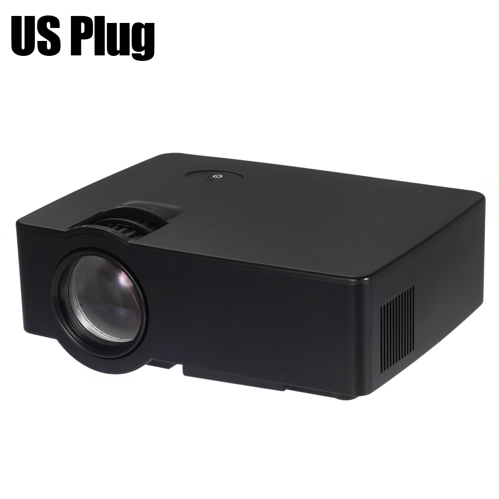 Original E08 LCD Projector 1500 Lumens 800 x 480 Pixels 1080P HD Media Player with Airplay Miracast цена