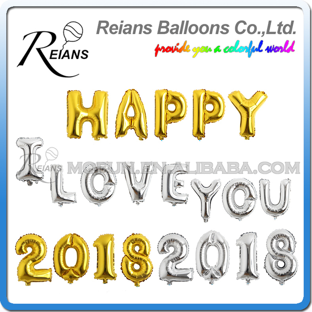 16,32,40 inch inflatable large gold silver letter number Balloons Names ballon lettre , Helium Foil Party for Birthday balloon