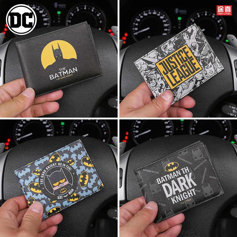 Drivers License Wallet Batman Auto Driver License Bag Car Document Wallet Cover For Documents Car Card Holder