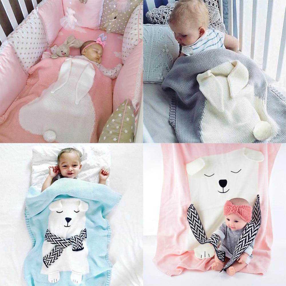 Envelope for Newborns Linens Baby bedding Rabbit/Bear/Cat Blanket Warm Wool muslin <font><b>Swaddle</b></font> Kids Bath Towel Blanket for Newborn