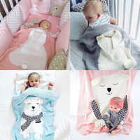 2017 Newest Baby Cute Rabbit Blanket Soft Warm Wool Swaddle Kids Bath Towel Lovely Newborn Baby