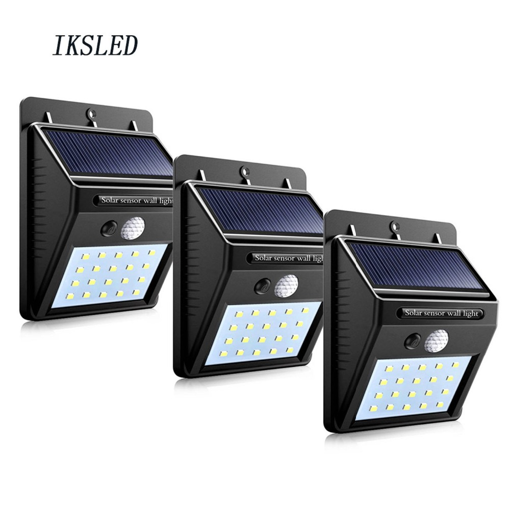 Wholesale: 20leds Solar Sensor Wall Light Outdoor Garden Waterproof Night Emergency Security Energy Saving light-operated Lamp
