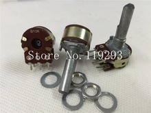 [BELLA]Taiwan ALPHA 16 type double potentiometer B10K ( with stepper )-25F–10PCS/LOT