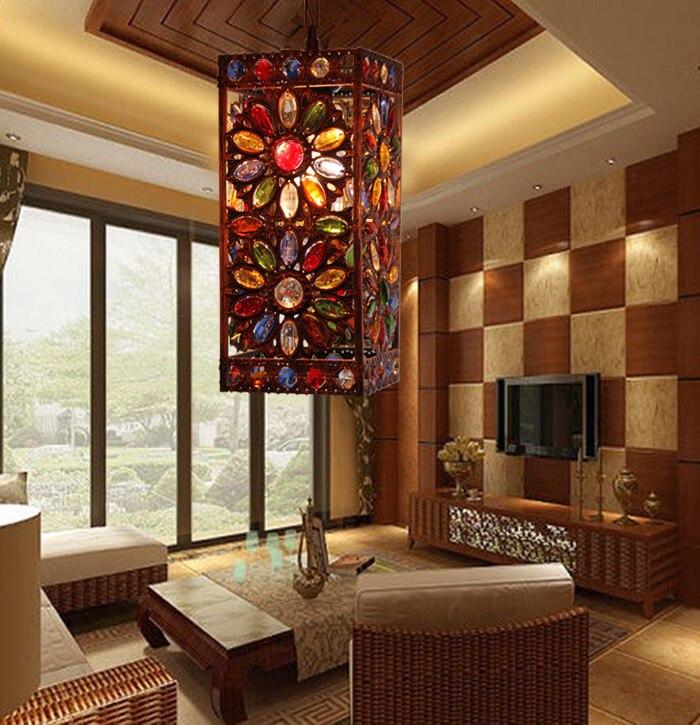 Mediterranean Style Lighting: T Mediterranean Style Iron Retro Pendant Light For Balcony