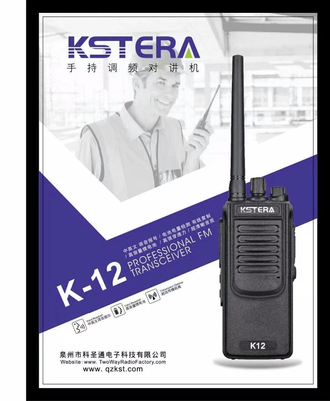 12 W Ad Alta Potenza Radio Bidirezionale KSTERA K12 10 KM long Distance Walkie Talkie Portatile Radio ricetrasmettitore FM con 4000 Mah batteria-in Walkie-talkie da Cellulari e telecomunicazioni su  Gruppo 1