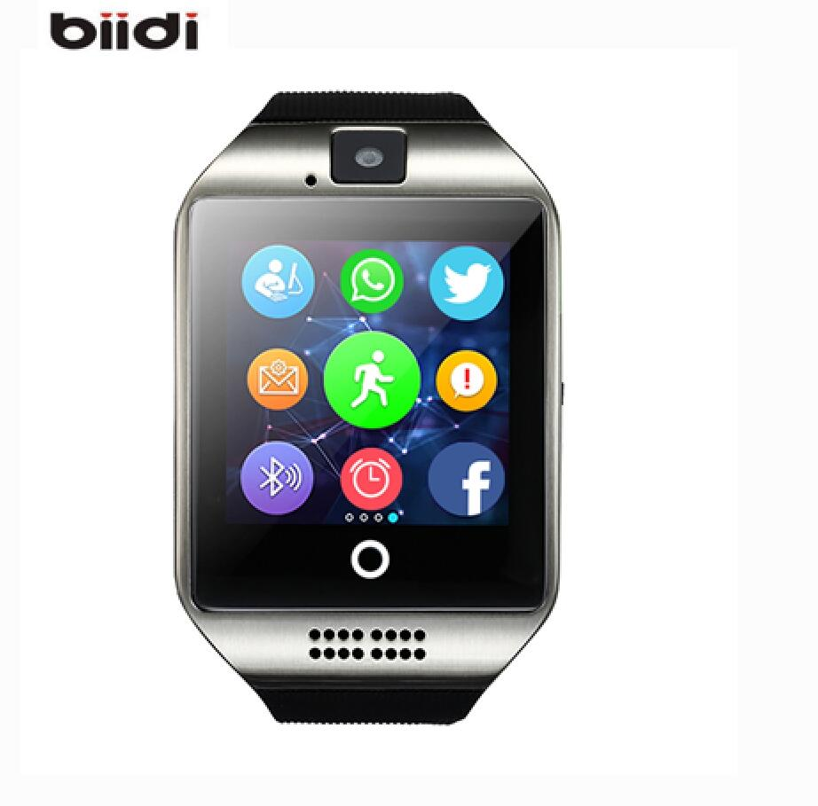 Biidi Q18 Bluetooth Smart Watch With Camera facebook Sync SMS MP3 WristWatch Support Sim TF For IOS Android Phone pk U8 A1 DZ09