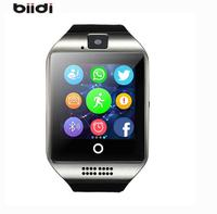 Biidi Q18 Bluetooth Smart Watch With Camera Facebook Sync SMS MP3 WristWatch Support Sim TF For