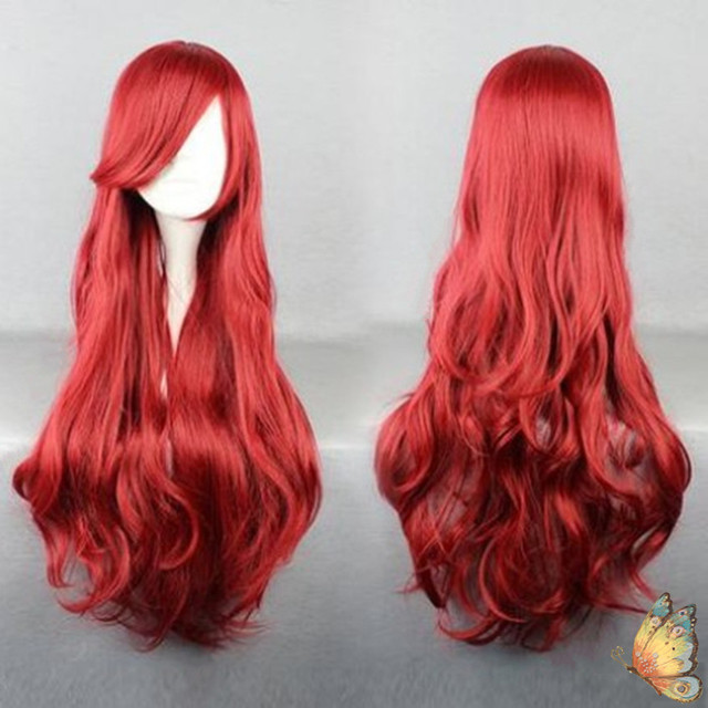 New The Little Mermaid Wig Princess Ariel Red Wig Anime Cosplay Role