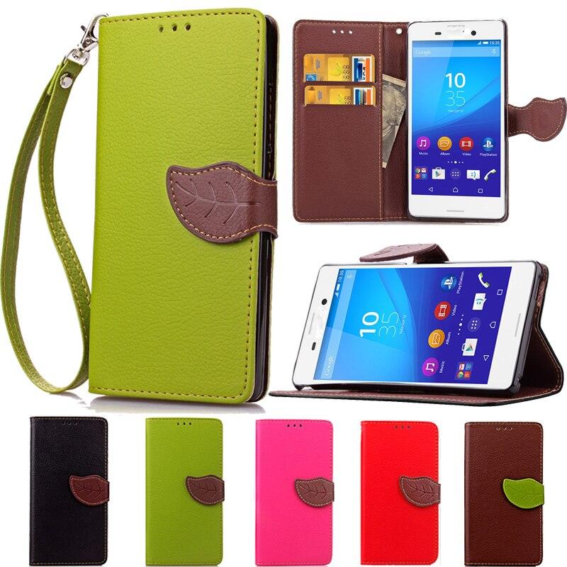 Лист застежка кожаный бумажник Стенд флип чехол для Sony Xperia M5 двойной M4 aaua M2 C5 ...
