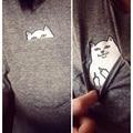 2016 Women T Shirt Summer Style T-shirt Print Black Pocket Cat Harajuku O-neck Short Sleeve Cotton Couple Tee Plus Size