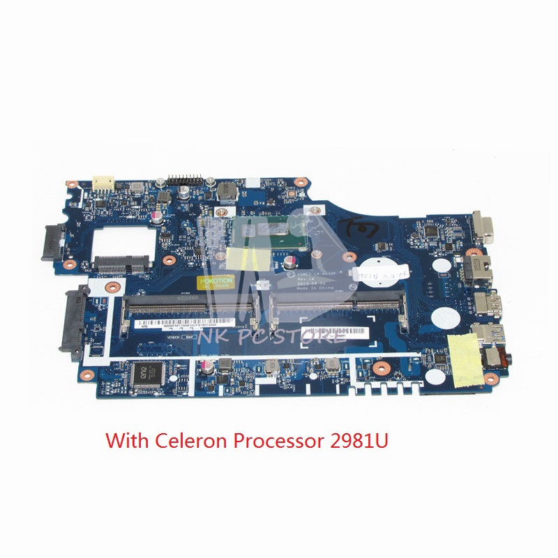 NOKOTION For Acer aspire E1-532 E1-572 E1-572G Laptop Motherboard V5WE2 LA-9532P NBMFM1100K SR1DX 2981U CPU цены онлайн