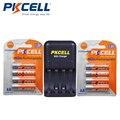 8 шт./2 шт. PKCELL NIZN AA аккумуляторные батареи NI-Zn 1 6 в вольт 2500mWh AA батареи + 1 шт. AA/AAA NiZn зарядное устройство