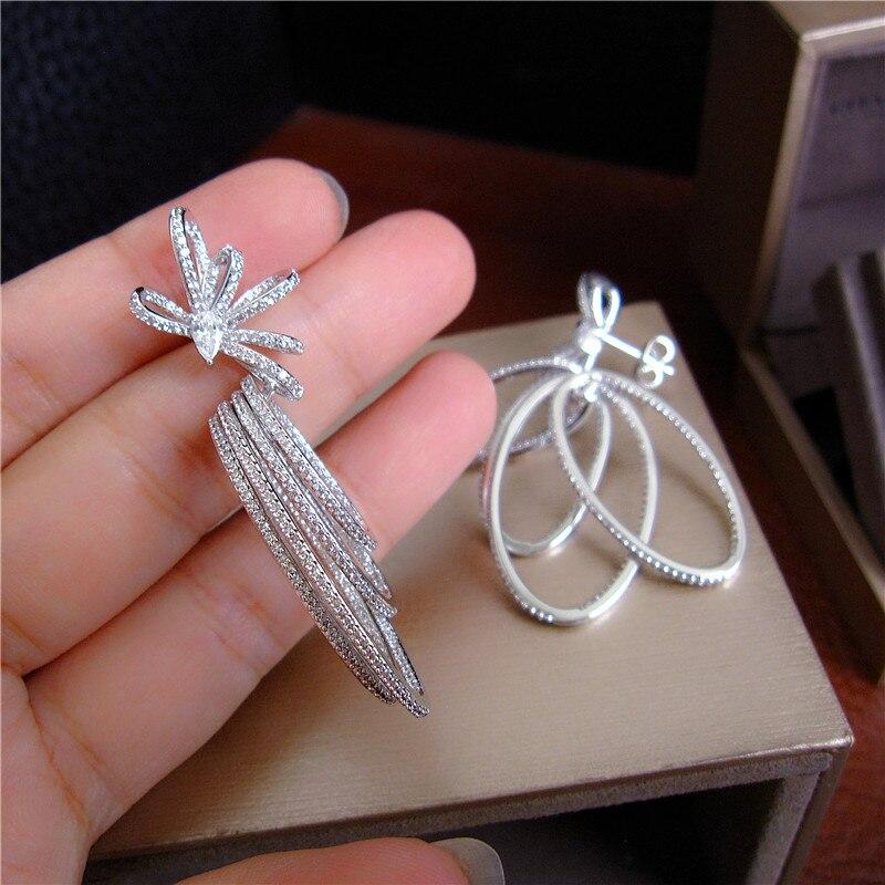 YoGe statement Jewellery E2301 Luxury micro pave setting AAA CZ hoops drop earrings dress patry accessaries