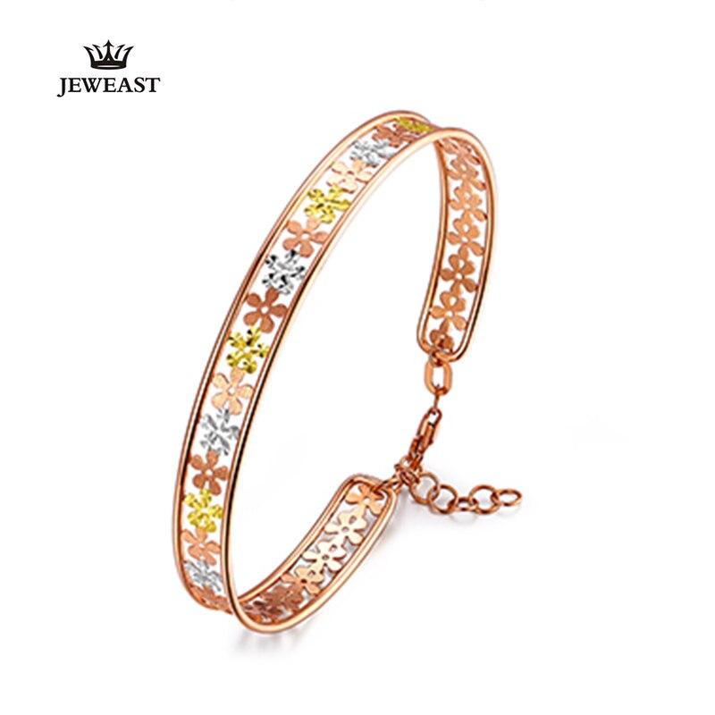 18 K Puur goud armband real AU 750 solid gold Bangle goede mooie mooie upscale trendy party fine jewelry hot verkoop nieuwe 2018-in Armbanden & Armring van Sieraden & accessoires op  Groep 1