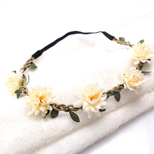 M MISM New Woman Flower Headband Bride Wedding Hair Bands Accessories Girls Bohemian Garland Summer Beach Head Bands Headdress cheap Headwear WOMEN Acetate Polyester Acrylic Adult Fashion Headbands Floral FD0001A-G women girl china as picture fabric we can accept dropshipping and wholesale
