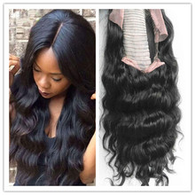 brazilian human lace front wigs hair wigs body wave style hair product natural black color 130% desnity for black women