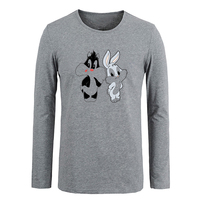 Bugs Bunny T shirt Customized Cotton Long Sleeve T-shirt Gifts for Boy Casual Clothing Anime cosplay Tops