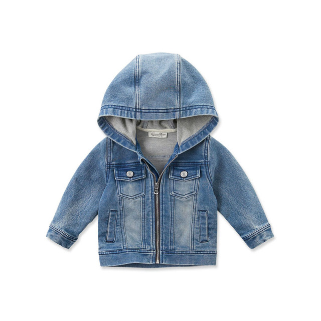 new styles e3fc3 95284 US $35.8 |Brand2017New Frühling Herbst kid infant kleinkind jungen  jeansjacke mantel reißverschluss mit kapuze oberbekleidung kinder jungen ...