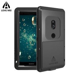 Image 4 - Aşk Mei Metal Kasa Sony Xperia XZ3 XZ2 XZ1 Kompakt XA2 Ultra 1 10 Artı XZ Premium Zırh Darbeye Dayanıklı telefon kılıfı Sağlam Kapak
