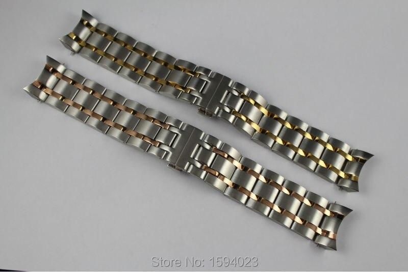 22 мм t035407 t035410 новые часы Запчасти Мужской сплошной из нержавеющей стали, золочение браслет ремешок розового золота ремешки для T035