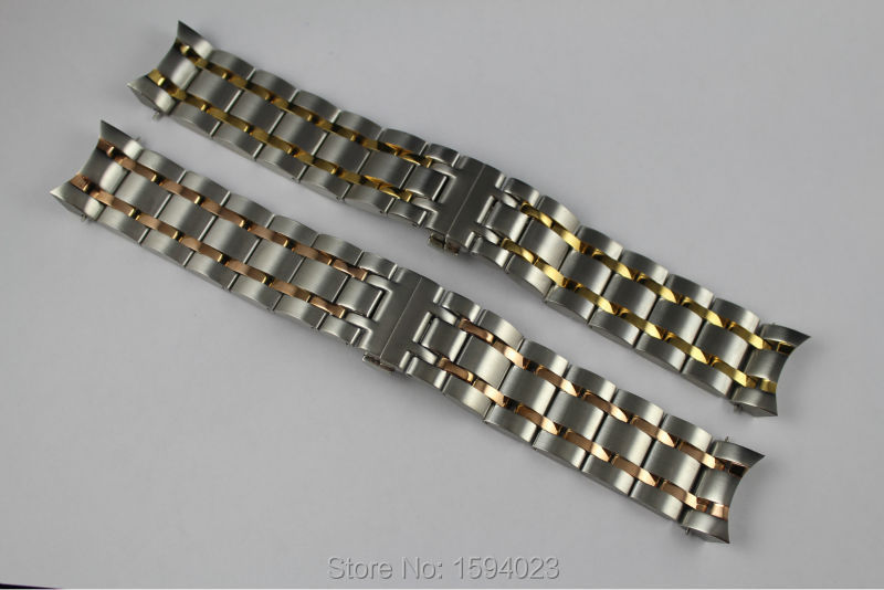 22mm T035407 T035410A New Watch Parts Male Solid Stainless steel Gold plating bracelet strap Rose gold plated WatchBand For T035
