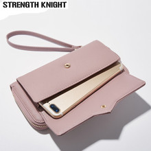 Fashion Long Woman Purse New Designer Female Wallet Clutch PU Leather Ladies Purses Card Holder Women Phone Bags все цены