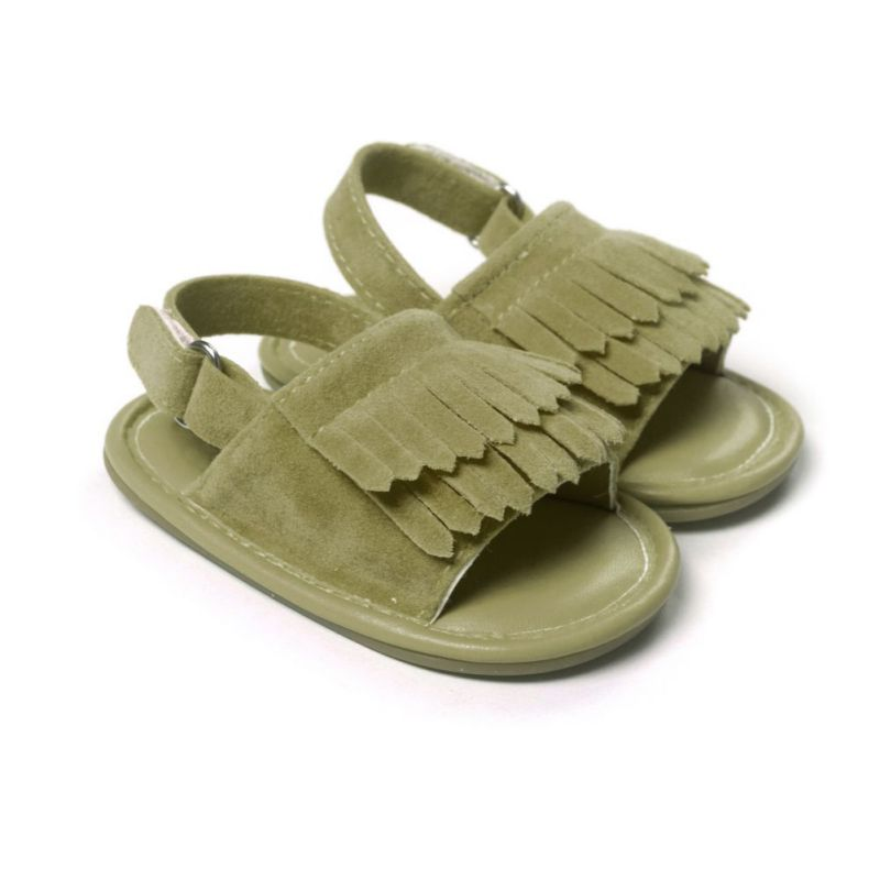 Fashion Baby Boys Sandals PU Tassel Shoes Baby Girls Sandals Summer Leisure Shoes