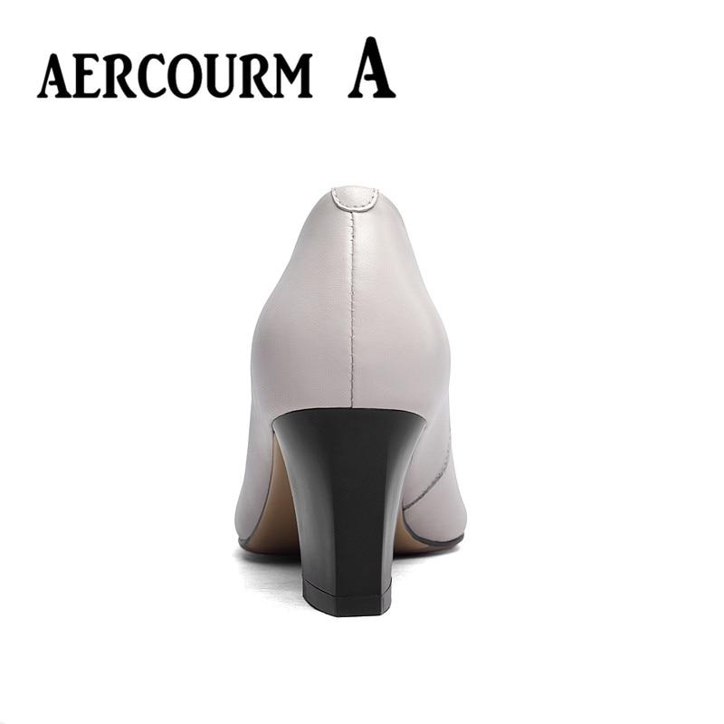 Aercourm un 2017 zapatos de piel de vaca de las mujeres del otoño - Zapatos de mujer - foto 4