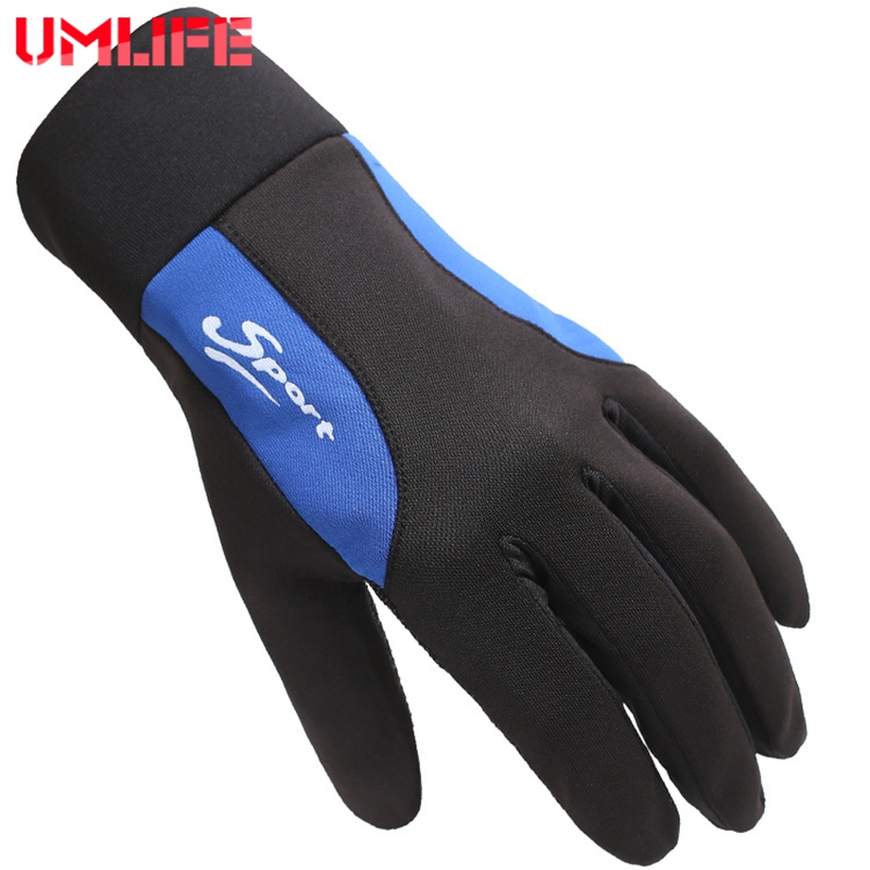UMLIFE Outdoor Hiking Gloves Sport Cycling Gloves For Men Women Windproof Antiskid Riding Bike Bicycle Motorcycle Skiing Gloves