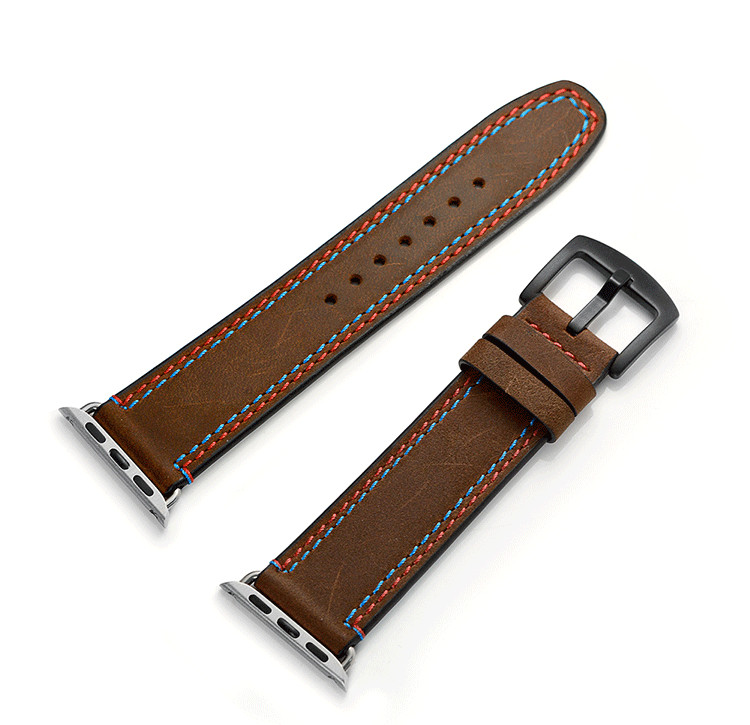 38mm-42mm Watch Strap For Apple Watch Series 1 2 3 High Quality Genuine Leather Watch Band For Apple iWatch Bracelet Watchbands high quality black color leather 38 42mm width apple watch strap band for apple watches
