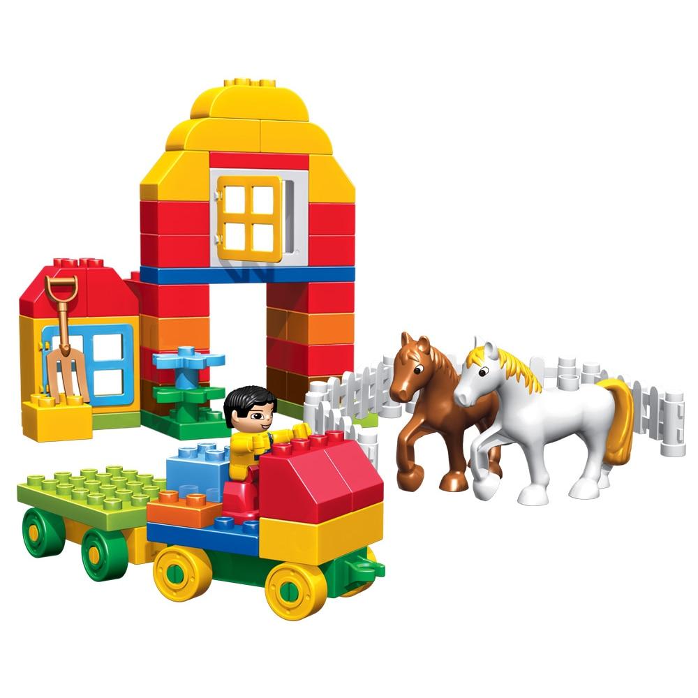 90pcs Happy Farm Haiwan Blok Bangunan Sets Partikel besar Animal - Mainan pembinaan - Foto 3