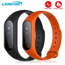 Langtek Bluetooth умный Браслет сердечного ритма Приборы для измерения артериального давления сна Мониторы для Android IOS Телефон IP X67 Водонепроницаемый