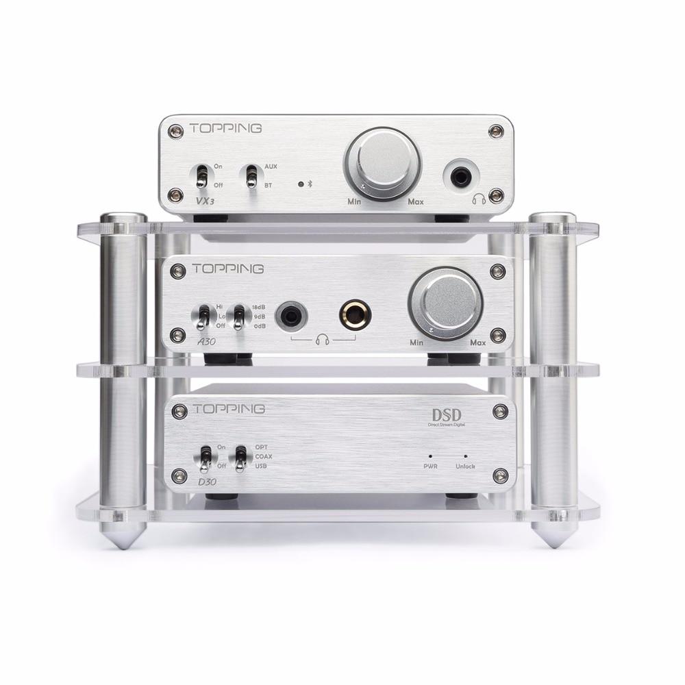 Topping D30 DSD USB DAC Decoder +A30 Headphone Amplifier Amplifiers Support USB DAC Home AMP Hifi Set