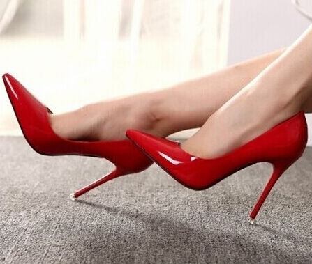 69a4da0cf3d € 26.86 |hot sale 2014 new star style pointed toe Stiletto high heels shoes  sexy lady fashion women pumps white red wedding shoes brand en Zapatos ...