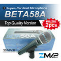 Free Shipping! 2pcs Top Quality Version Beta 58a Vocal Karaoke Handheld Dynamic Wired Microphone BETA58 Microfone Beta 58 A Mic