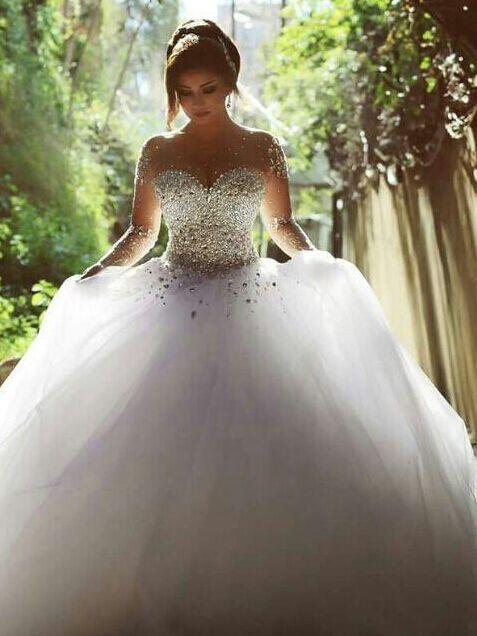 Buy vestidos de noiva casamento sheer for Best wedding dress stores in los angeles