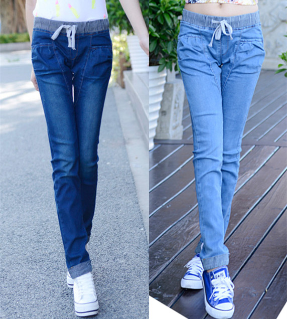 2015 verano american pantalones mujer stretch cheap denim women marca  vaqueros high waist anchos pantalon mujer rectos estampado jean trousers casual  jeans ... 105852b69f83