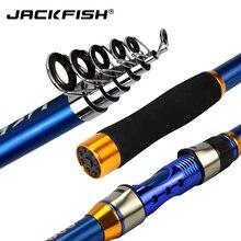 JACKFISH High Quality Carbon Fiber Telescopic Fishing Rod blue Sea Fishing Pole 2.1/2.4/2.7/3.0/3.6m pesca