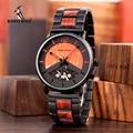 BOBO BIRD люксовый бренд деревянные металлические часы Стильный Дата дисплей Relogio Masculino подарок Прямая доставка U-R30S01
