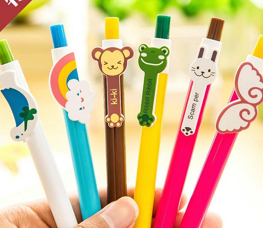 Superieur 3 Pcs/lot Lovely Korea Stationery Cartoon Cute Rainbow Telescopic Ball  Point Pen Ballpen Office School Promotion Gift In Ballpoint Pens From Office  U0026 School ...