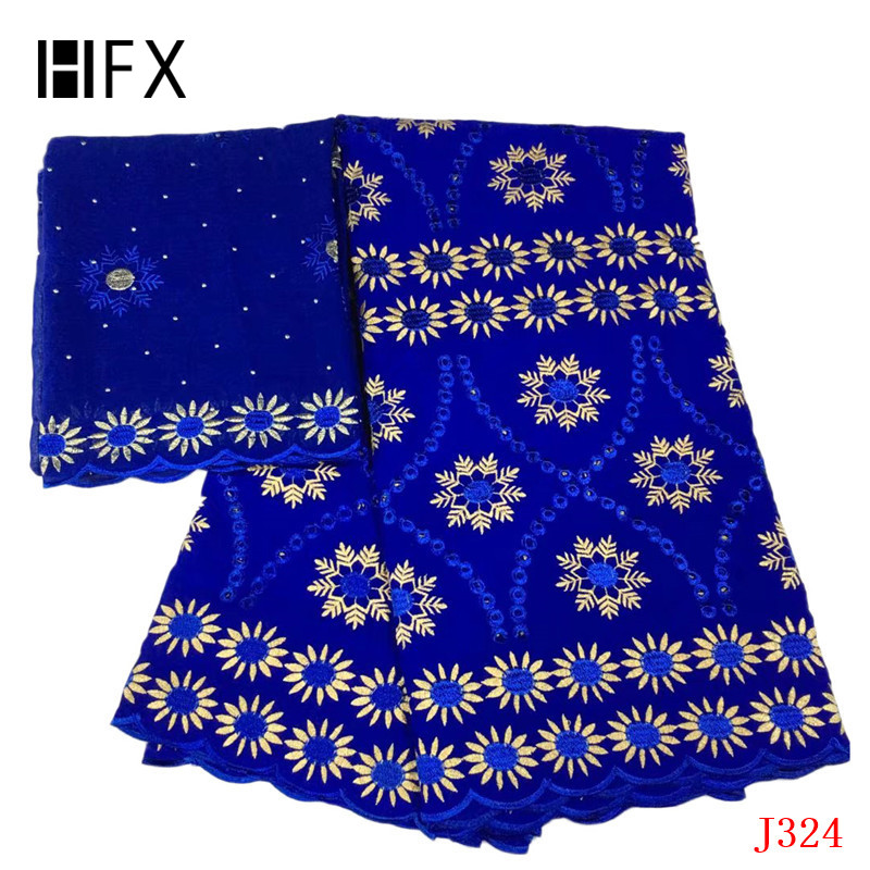 HFX Newest Bazin Riche Getzner 7 Yards Royal Blue Indian Embroidery Cotton Lace 2019 Nigeria African Lace Fabric L324HFX Newest Bazin Riche Getzner 7 Yards Royal Blue Indian Embroidery Cotton Lace 2019 Nigeria African Lace Fabric L324