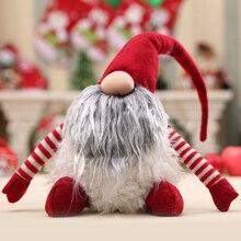 Горячая Рождественская кукла с узором плюшевая игрушка Санта Гном Рождественское украшение для дома подарок для детей XJS789
