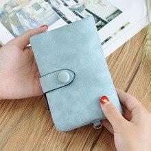 Wallet womens Handbag female Matte Short Cute Tri-fold Multi-card Female Purse 2019 New Cartera Mujer
