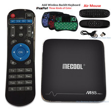 Véritable MECOOL M8S Pro Plus TV Box Amlogic S905X Mali-450 2.4 GHz WiFi Android 7.1 HDMI 2.0 Smart Media Player