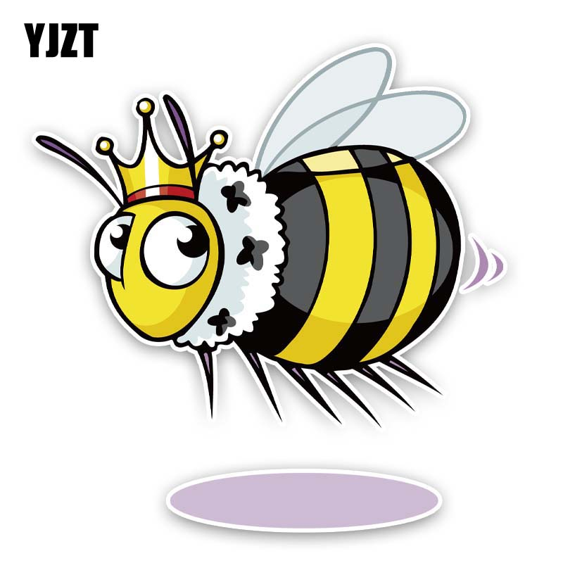 YJZT 13.2CM*13.5CM The Little Prince Of Bees Car Sticker PVC Decal 12-300774