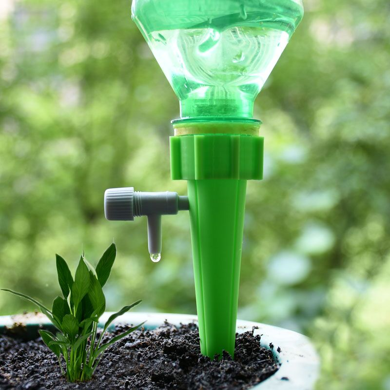 Drip Irrigation Automatic Plant Waterers System Adjustable Drip Water Spikes Taper Plants Pot Watering For Coke Bottles 1pcs