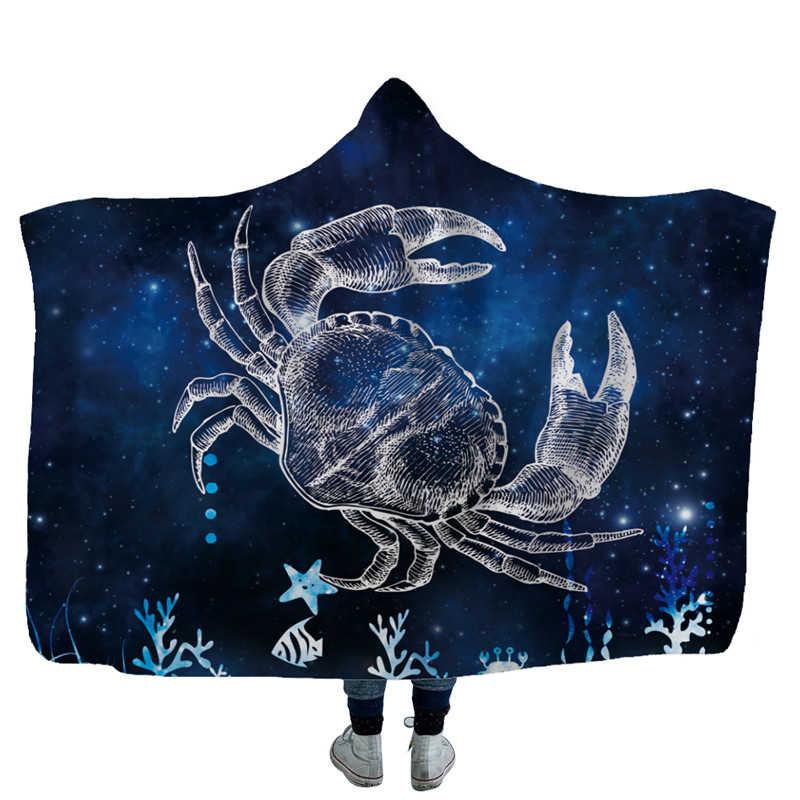 Winter Wearable Hoodie Blanket Kids Adults Fossil Dinosaur Soft Fluffy Plush Hooded Blanket Decorative Christmas Fleece Blanket