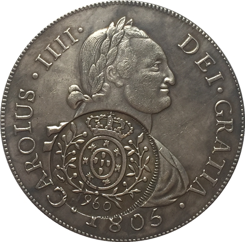 1808 Brazil 960 reis coins COPY FREE SHIPPING 40MM