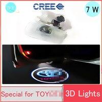 Hot Car WelcomeDoor Light 2Pcs LED Laser Projector Logo LED Light For Toyota Camry Corolla Reiz