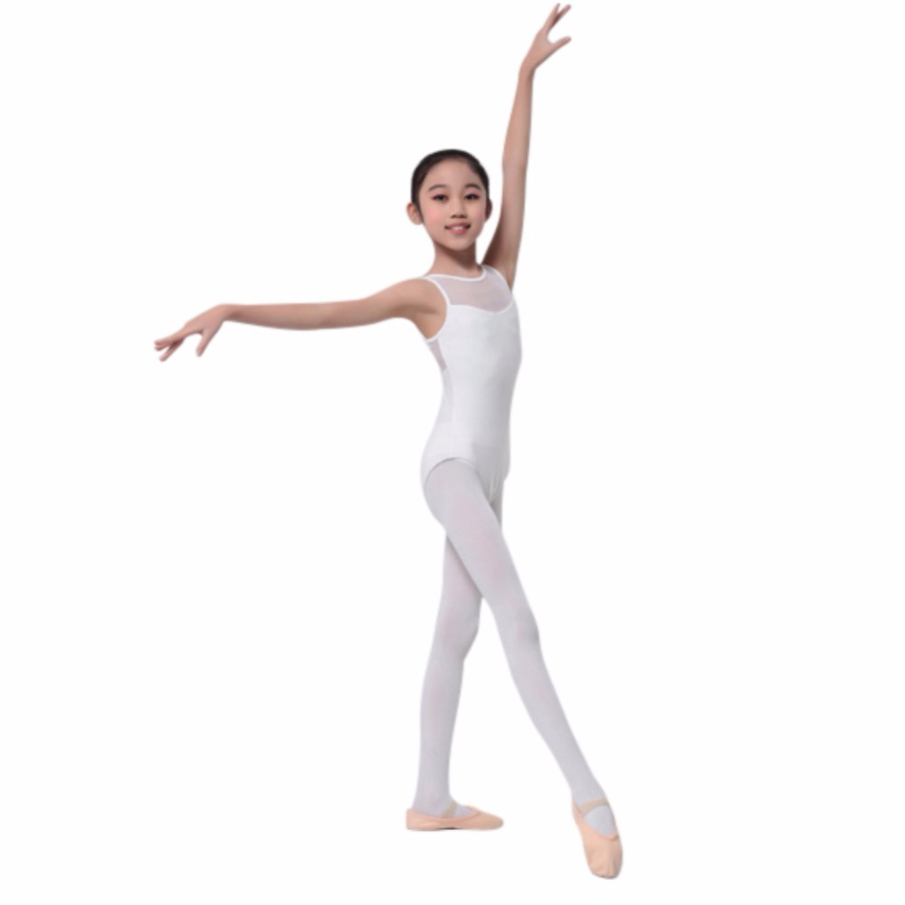 Girls Kids Dancewear Jumpsuit Leotard Sleeveless Gymnastics Wear Ballet Costume Dance Dress Ballet
